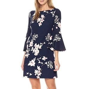 Eliza J Women's Printed Bell Sleeve Shift Dress